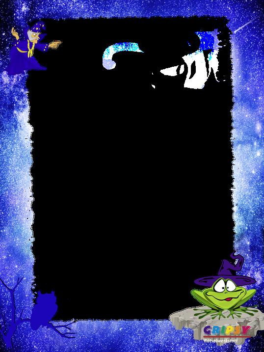 Bilderrahmen zur Zaubererschatzsuche