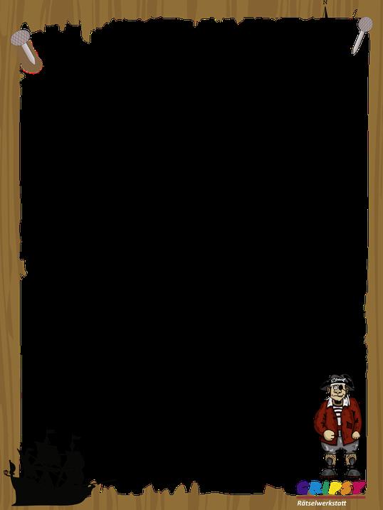 Bilderrahmen zur Piratenschatzsuche