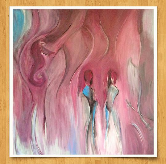 Sansimoa 100 x 100cm Acryl auf Leinwand -verkauft-