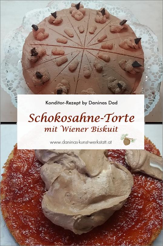 Schokotorte Rezept. Feine Wiener Biskuit Torte mit Schokosahne - Konditor Rezept mit Schritt-für-Schritt-Anleitung by Daninas Dad