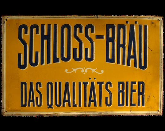 Blechschild Schloss Bräu Qualitäts Bier