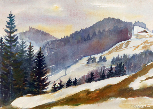 Erwin Bowien (1899-1972): Kreuzthal Einsenbach Februar, 1945