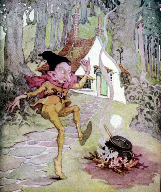 Illustrazione di Anne Anderson  dalle Fiabe dei Fratelli Grimm (London and Glasgow 1922)
