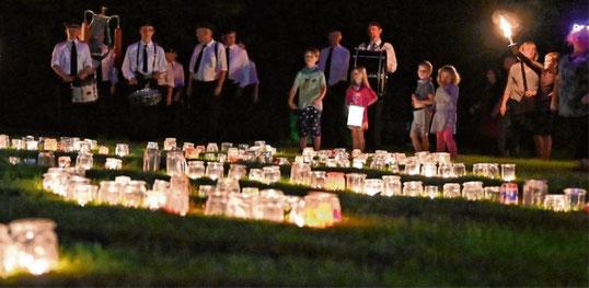 Am 29. August wird der Hohenzollernpark nicht von tausenden Kerzen iIluminiert.