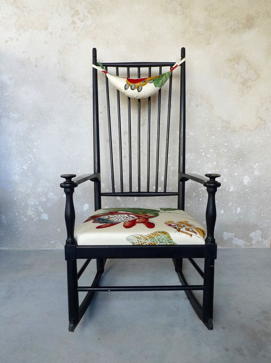 JOLI, Gemla, rocking-chair noir