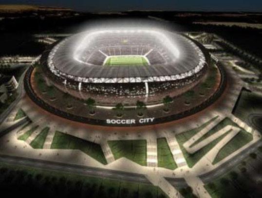 Soccer City Stadion in Johannesburg - Platz für 95'000 Fussball-Fans