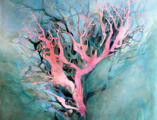 Atelier Rauschend Kunstschule Malschule Malerei Kunstworkshops Malerei Offenes Acrylmalerei Iza Sieverding Baum Bild  rauschend Lohne Oldenburg