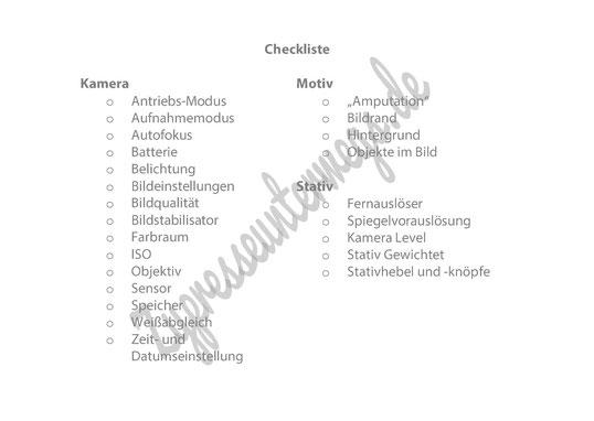 Kamera Checkliste