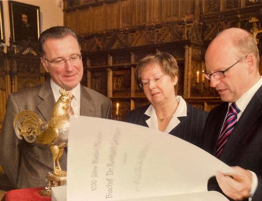 Amtsantritt 2009 mit Rainer Uetz und Ursula Suer (damalige Protokollchefin)