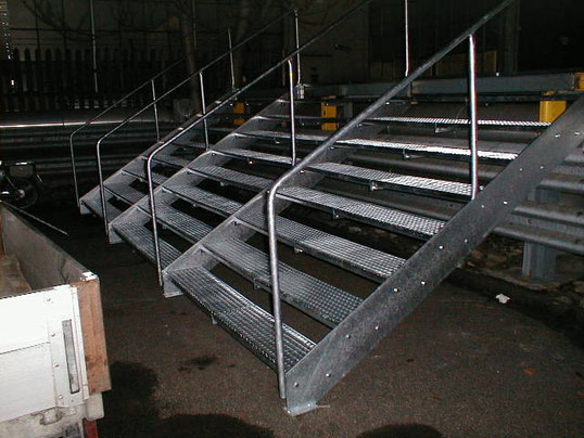 Treppe im Aussenbereich für einen Notausgang