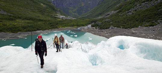 Fonte des glaciers en Norvège