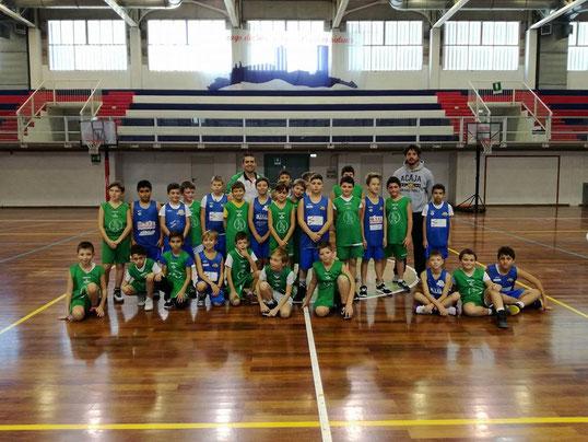 Gli aquilotti fossanesi e centallesi presenti a Mondovì - Foto Basket Club Mondovì