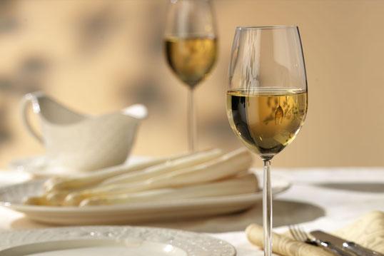 Der perfekte Wein zum Spargel: Silvaner aus Franken.