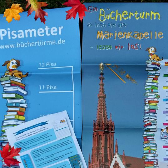 Die Plakate der Aktion Büchertürme in Würzburg