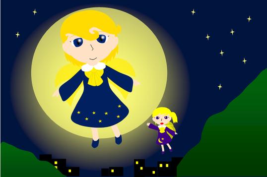 12月のテーマ 月のイラストコンテスト~夜の妖精散歩~