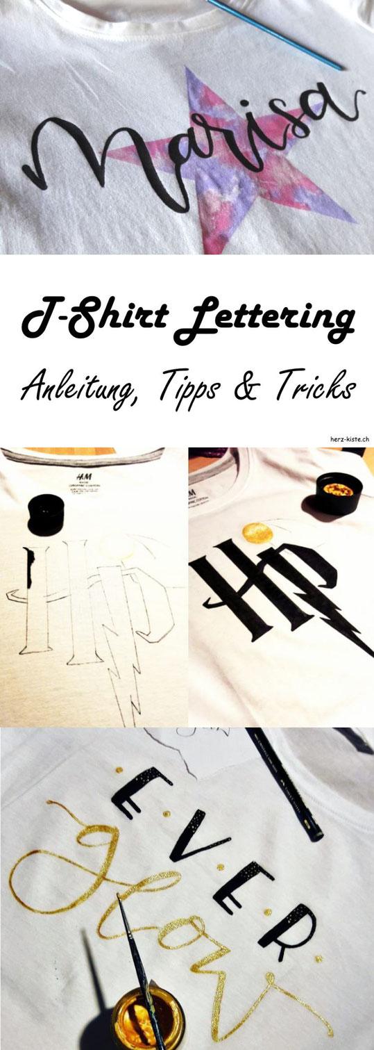DIY Anleitung für Lettering auf einem T-Shirt. Erfahre in diesem Beitrag die besten Tipps und Tricks wie du dein Lettering auch auf einem T-Shirt schön gestaltest.