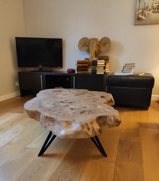 pied de table basse design en métal pour créations DIY