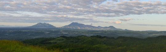 阿蘇山のコテージからの眺め