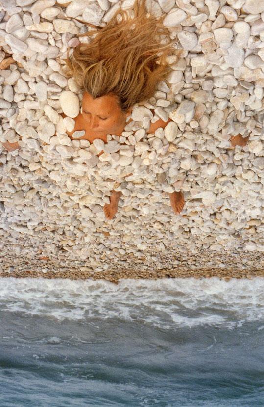 Playa de rollos: ¡  Qué limpia, qué blanca, qué fresca, qué bella ! F. Pedro.
