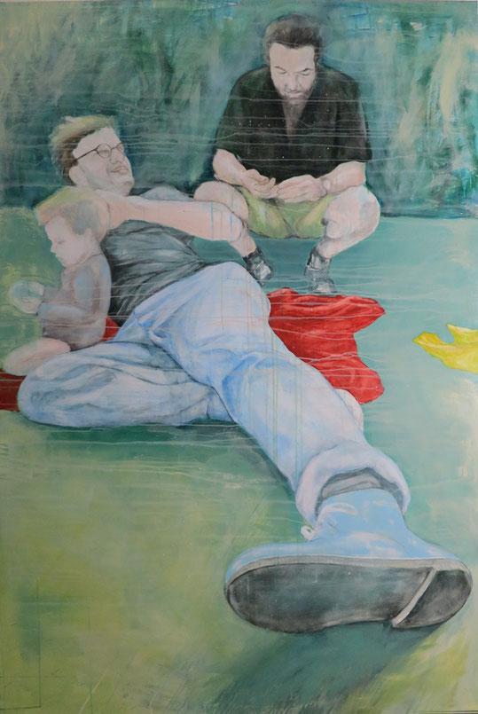 Arne, Basti und Mila * 120 x 180 cm * 2014