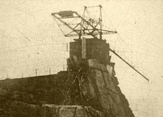 Bras métallique de la cloche d'Ouessant