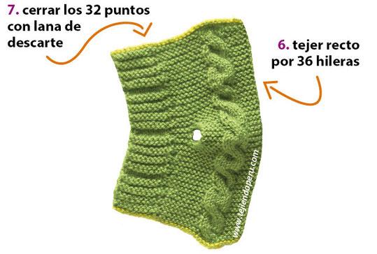 Cómo tejer botitas con trenzas en dos agujas o palitos para bebés