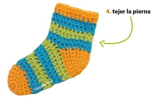 Medias para niños tejidas a crochet - Tejiendo Perú