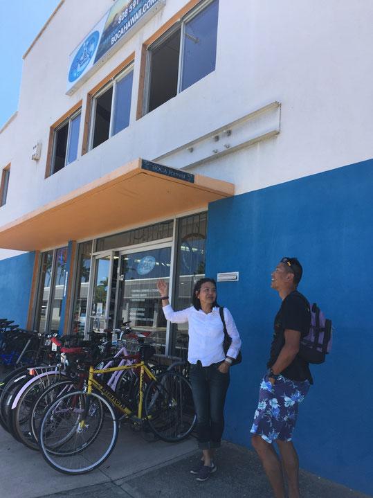 ハワイで自転車を預かり保管します。そのままハワイに自転車をおいておければ、気軽に手軽にハワイで自転車を楽しむことができます。