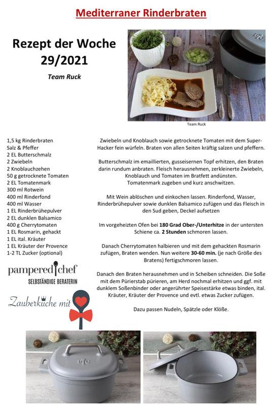 Rinderbraten Rezept, Pampered Chef Rezepte , Gusseisentopf