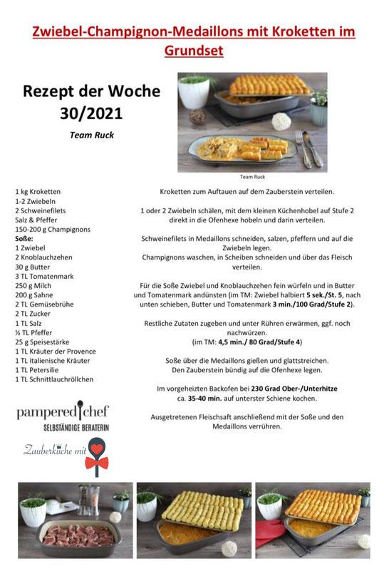 Stoneware Grundset, Pampered Chef Rezepte , Zwiebelschnitzel