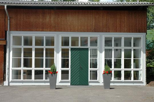 Orangerie, Schauraum, Präsentationsraum, Kastenfenster Kranz , Doppelfenster, box type windows