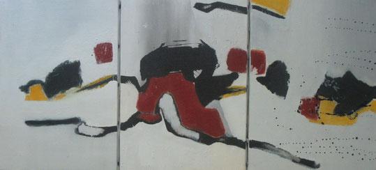 encre pigments sur toile  2011    27x19 (x3)