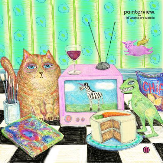 Das painterview mit Pia Grambart-Delalic - artikoo