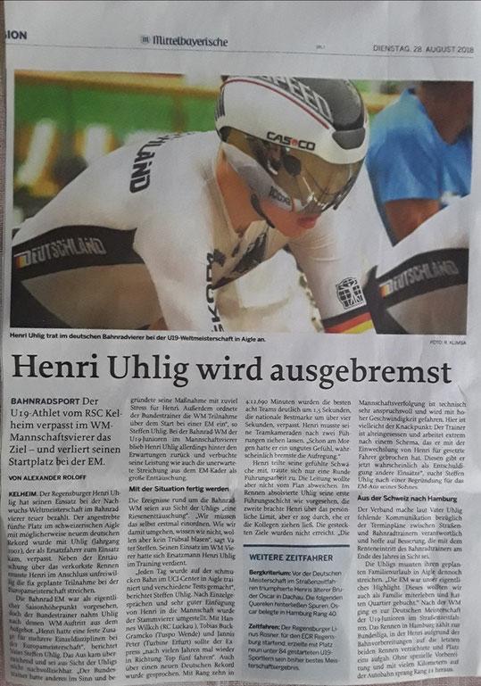 Quelle: Mittelbayerische Zeitung 28.08.2018