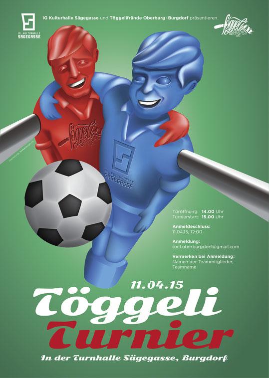 Plakatdesign:Töggeli Turnier | Lockedesign 2015