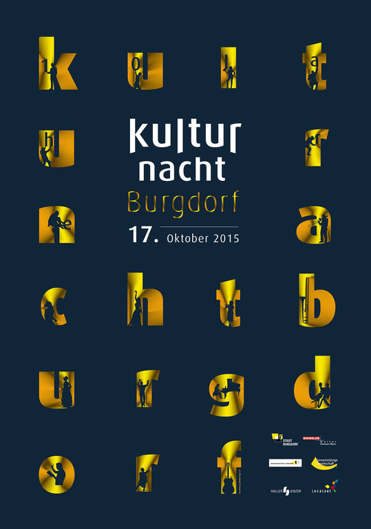 Plakatdesign: Kulturnacht 2015 | Brand, Konzept und Grafik by Lockedesign 2016