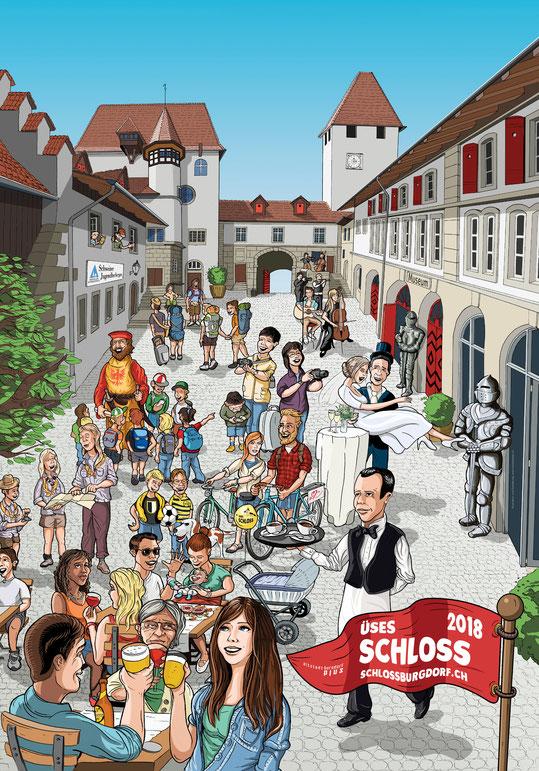 Plakatdesign: Üses Schloss Burgdorf | Lockedesign 2015