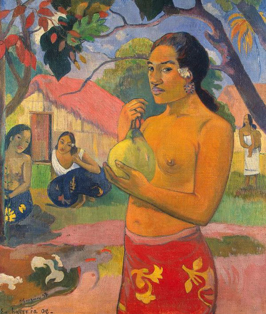 Женщина, держащая плод - Поль Гоген (1893)