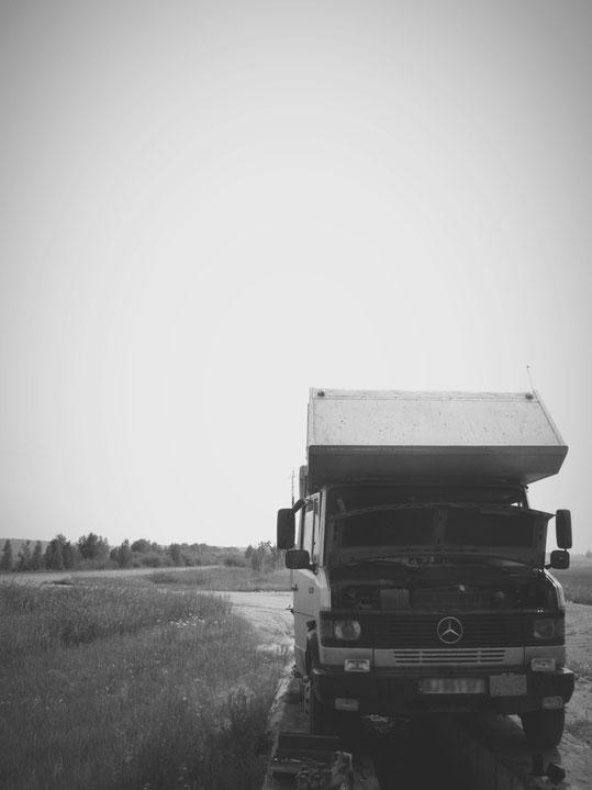 bigousteppes russie siberie vidange camion mercedes