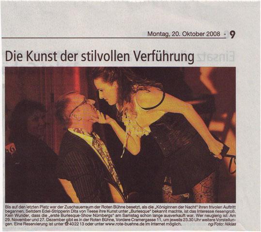 Nürnberger Zeitung, 20.10.08
