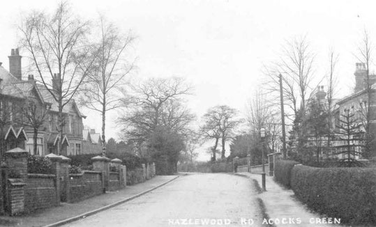 Around 1904, showing number 25, Hazelwood House, on the right