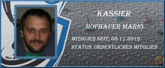 Kassier Mario Hofbauer