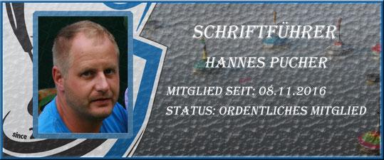 Schriftführer Hannes Pucher