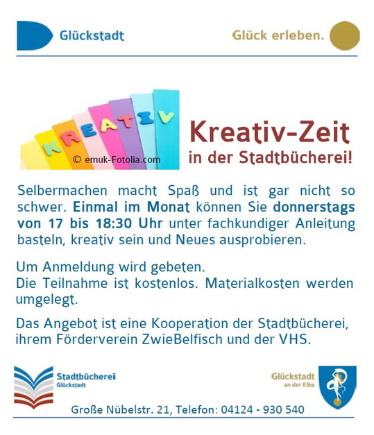 Kreativzeit in der Stadtbücherei
