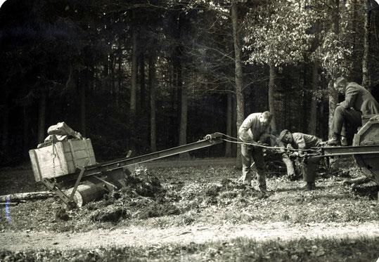 1926 Bodenverdichtung mit Tank