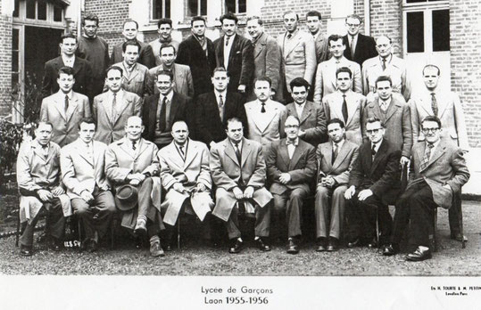 photo de classe Laon 1956  profs