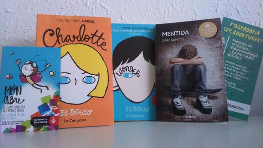 """Els llibres que he recomanat: """"Wonder"""" i """"Charlotte"""" (R.J. Palacio) i el llibre obsequi de la #kedada, """"Mentida"""" (Care Santos)"""