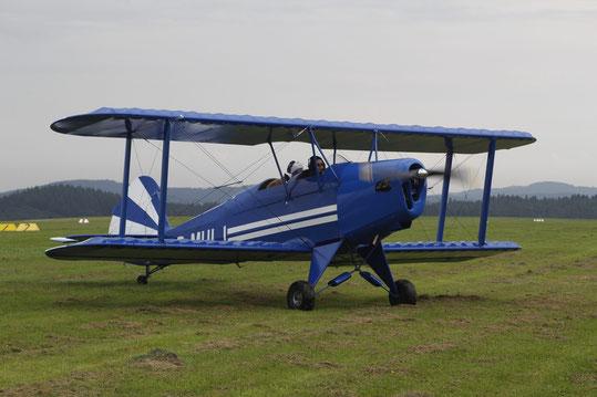 Eines der zahlreichen Besucherflugzeuge beim Flieger-Picknick