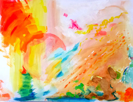 atelier de peinture intuitive. Maison de la Gloriette. Tours. Séverine Saint-Maurice. lescerclesdelumiere.com. lescture d'oeuvres d'art