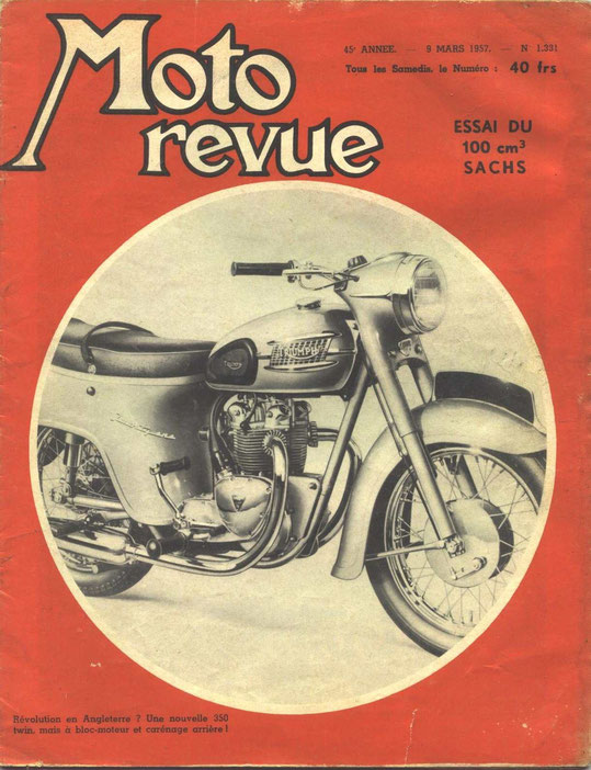 Moto Revue 09.03.1957. 2 pages. KS601, le bulldozer du tout terrain.